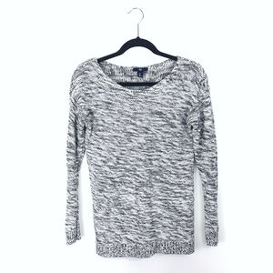 [Gap] Black & White Marled Sweater